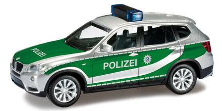 bmw x3 polizei ingolstadt herpa 090544 modellautos 1 87. Black Bedroom Furniture Sets. Home Design Ideas