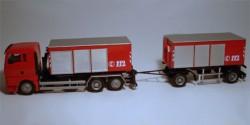 MAN TGA XL Feuerwehr Container-Hängerzug