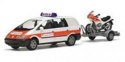 VW Sharan BRK Mobile Wache + Motorrad