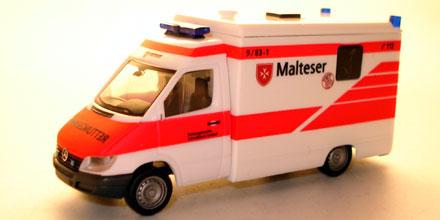 mercedes benz sprinter malteser schw bisch gm nd herpa. Black Bedroom Furniture Sets. Home Design Ideas