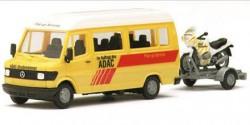 Mercedes Benz 207D ADAC + Abschlepp-Anhänger