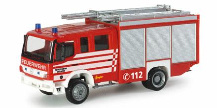 Herpa MB Atego LF 20//16 Feuerwehr Hamburg Süderelbe 921107