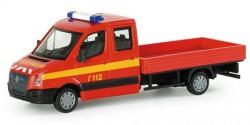 VW Crafter DoKa Pritsche Feuerwehr