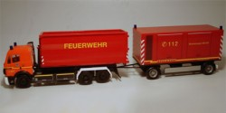 Mercedes Benz SK 94 WLF Hängezug Feuerwehr Hamburg mit Generatoranhänger