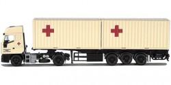 Iveco Eurostar Container-Sattelzug Rotes Kreuz