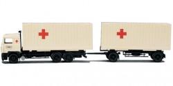 Volvo F Container-Hängerzug Rotes Kreuz