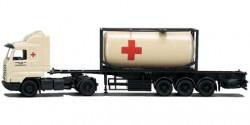 Scania 3 SL Tank-Container-Sattelzug Rotes Kreuz