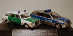 Mercedes Benz W123 und E-Klasse Polizei