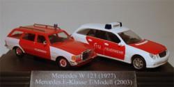 Mercedes Benz W123 und E-Klasse Feuerwehr