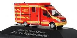 Mercedes Benz Sprinter RTW Feuerwehr Flughafen Dresden