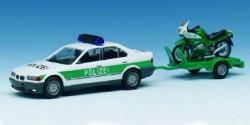BMW 325i Polizei + Motorradanhänger