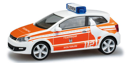 vw polo kommandowagen feuerwehr wolfsburg herpa 049566. Black Bedroom Furniture Sets. Home Design Ideas