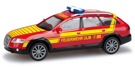 audi a6 allroad kommandowagen feuerwehr ulm herpa 049528 modellautos 1 87. Black Bedroom Furniture Sets. Home Design Ideas