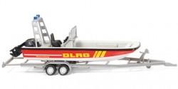 Anhänger mit Mehrzweckboot MZB 72 DLRG