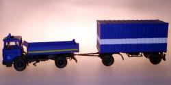 MAN Pritsche/Plane + Container-Anhänger THW