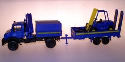 Mercedes Benz Unimog THW + Anhänger/Gabelstapler