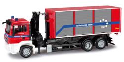 MAN TGS M Abrollcontainer LKW Feuerwehr Augsburg