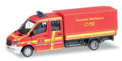 Mercedes Benz Sprinter DoKa mit Plane Feuerwehr Mainhausen