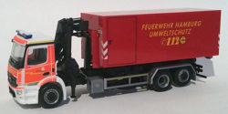 Mercedes Benz Antos WLF mit AB Gabelstapler Feuerwehr Hamburg