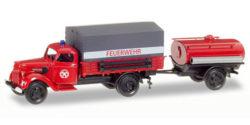 Ford V 3000 Planen-LKW mit Tankanhänger Feuerwehr