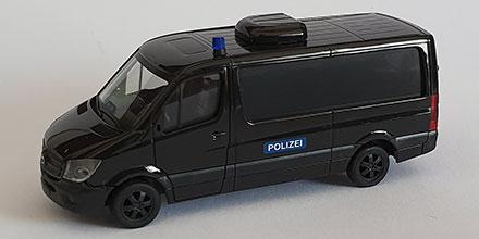 1//87 Herpa MB Sprinter SEK Polizei GSG9 Bundespolizei graumetallic