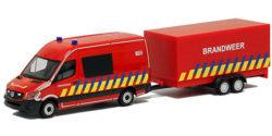 Mercedes Benz Sprinter mit Anhänger Brandweer Belgien